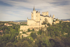 Der berühmte Alcazar von Segovia, Kastilien y Leon, Spanien Stockfoto