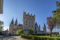 Der berühmte Alcazar von Segovia Spanien Stockfoto