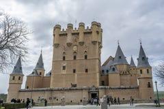 Der berühmte Alcazar von Segovia Spanien Lizenzfreie Stockfotos