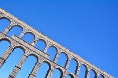 Der berühmte alte Aquädukt in Segovia Lizenzfreies Stockfoto