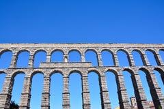 Der berühmte alte Aquädukt in Segovia Lizenzfreies Stockbild
