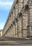 Der berühmte alte Aquädukt in Segovia, Kastilien y Leon Lizenzfreies Stockbild
