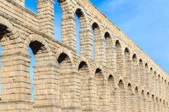 Der berühmte alte Aquädukt in Segovia, Kastilien y Leon Stockbilder