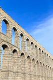 Der berühmte alte Aquädukt in Segovia, Kastilien y Leon Stockfotos