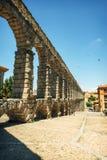 Der berühmte alte Aquädukt in Segovia, Spanien Stockbilder
