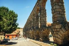 Der berühmte alte Aquädukt in Segovia, Spanien Lizenzfreie Stockbilder