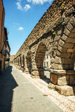Der berühmte alte Aquädukt in Segovia, Spanien Stockfotos