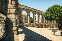 Der berühmte alte Aquädukt in Segovia, Spanien Lizenzfreie Stockfotos