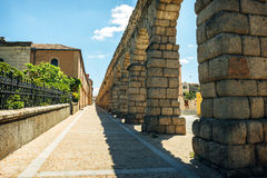 Der berühmte alte Aquädukt in Segovia, Spanien Lizenzfreie Stockfotografie