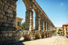 Der berühmte alte Aquädukt in Segovia, Spanien Stockfoto