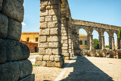 Der berühmte alte Aquädukt in Segovia, Spanien Lizenzfreies Stockbild