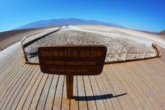 Der berühmte Bereich von Death Valley Stockfotografie