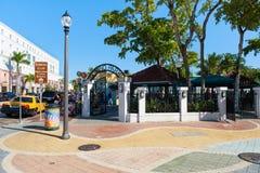 Der berühmte Domino-Park an der 8. Straße in wenigem Havana, Miami stockfoto