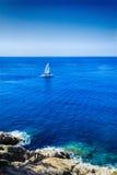 Der berühmte Erholungsort von Tossa de Mar auf Costa Brava Lizenzfreies Stockfoto