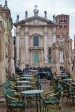 Der berühmte Renaissancequadrat Marktplatz Sordello in Mantua, Nord-Italien Lizenzfreie Stockfotografie