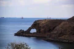 Der berühmte Strand Elefant in Aden, der Jemen Stockbild