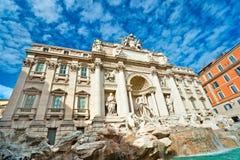 Der berühmte Trevi-Brunnen, Rom, Italien. Lizenzfreie Stockbilder
