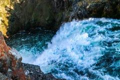 Der berühmte und schöne Yellowstone River in Wyoming lizenzfreies stockbild