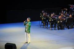Der berühmte Xinjiang-Sänger Karim-theFamous und classicconcert stockbild
