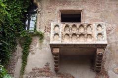 Der berühmten des Juliets Balkon Stockfotografie