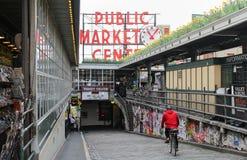 Der berühmter Pike-Platz-allgemeine Markt lizenzfreie stockfotos