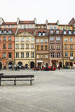 Der Bereich der alten Stadt in Warschau, Polen stockbilder