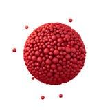 Der Bereich, der von den Plastikperlen, rote Blasen gemacht wird, 3d übertragen Stockbild