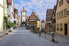 Der Bereich in Rothenburg auf Tauber Stockfotografie