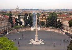 Der Bereich von Poppolo in Rom. Stockfotos