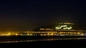 Der Berg in Agadir nachts, Marokko Stockfotos