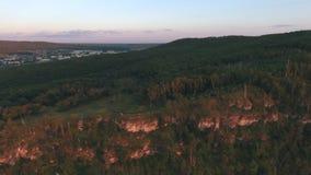 Der Berg auf dem Wolga-Luftschießen stock video