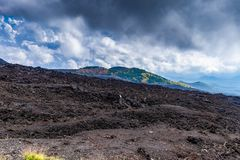 Der Berg Etna Volcano, Sizilien-Insel, Italien stockbild