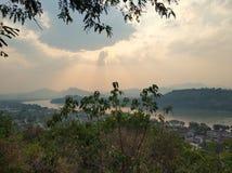Der Berg Phousi stockfotografie