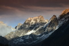 Der Berg Siguniang auf China-Tibetaner Qiang Autonomous Prefecture von Ngawaï-¼ ˆAbaï ¼ ‰ Lizenzfreies Stockbild