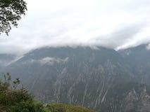 der Bergblick von Qiang-Dorf stockbild