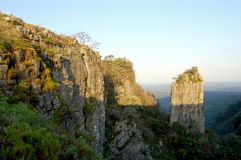 Der Berggipfel Südafrika Stockbild