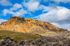 Der Bergnationalpark Lanmannalaugar Stockfotos