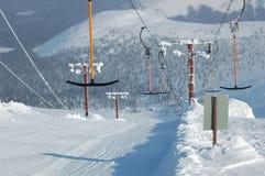 Der Bergskifahren Aufzug. Lizenzfreie Stockfotografie