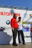 Der beste bulgarische Marathoner Stockbild