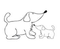 Der beste Freund des Hundemannes stock abbildung