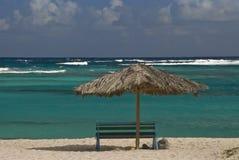 Der beste Sitz auf dem Strand Stockfotografie
