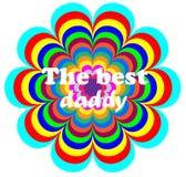 Der beste Vati Glücklicher Vatertag lizenzfreies stockbild