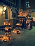Der Besucher von Nachtkaffee Stockbilder