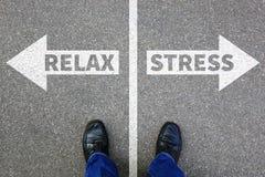Der betonte Druck entspannen sich entspanntes Gesundheitsgeschäftsmann-Geschäft concep Stockbilder