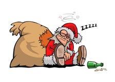 Der betrunkene Weihnachtsmann Lizenzfreie Stockbilder