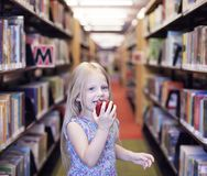 In der Bibliothek stockfotografie