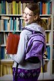 In der Bibliothek Stockfoto