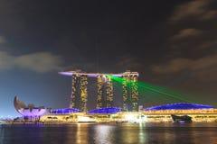 Der 6 3 biliion Dollar (US) Marina Bay Sands Hotel beherrscht Lizenzfreies Stockbild