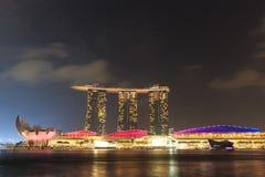 Der 6 3 biliion Dollar (US) Marina Bay Sands Hotel beherrscht Lizenzfreies Stockfoto