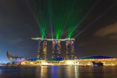 Der 6 3 biliion Dollar (US) Marina Bay Sands Hotel beherrscht Lizenzfreie Stockfotografie